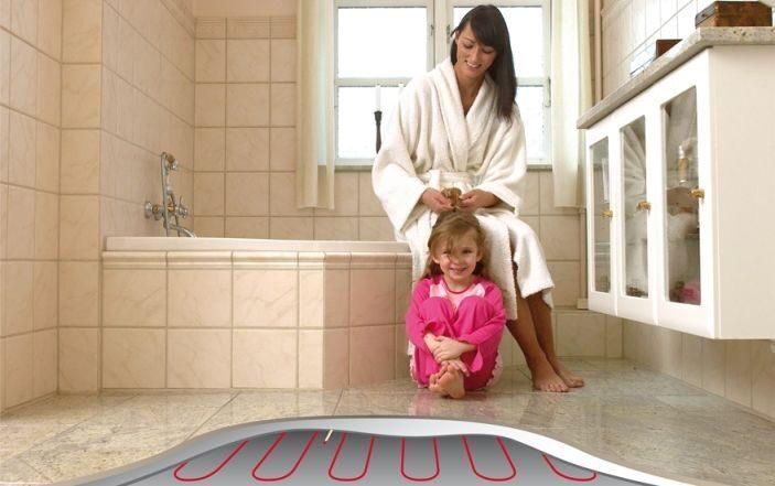 Видео теплый пол в ванной комнате своими руками